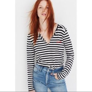 """Madewell Embroidered Whisper Cotton """"Muah"""" Top"""